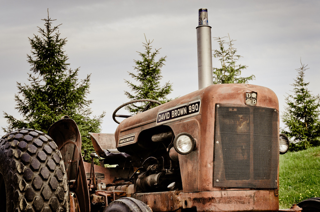 David Brown used to make tractor! This specific model was made from 1965 to 1971. It was selling for $9000 back then.