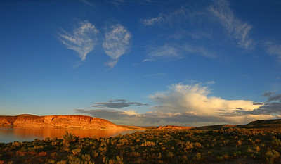 August 15  *** Twin Flames ***  Flaming Gorge, Wyoming July 3--Day 3 of the Royal Road Trip. 3 (verticle) shot panorama