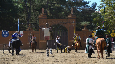 September 28                          ***Watch the video!***  The Tournament of the Knights is definitely a crowd-pleasing favorite at the Casa de Fruta Renaissance Faire!
