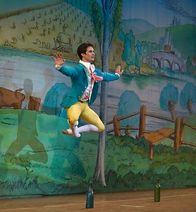 Nelson Madrigal in Boston Ballet's La Fille mal Gardee Taken at the dress rehearsal tonight.  I have no idea if this is the best shot.  I took more than 1000 and 383 made the first cut.  This is the first one I found that I thought I'd try to work on.  I have my work cut out for me for the next few days.  And they want me to shoot performances on Friday night and Saturday afternoon.  8 March 2006  Note: I've gotten started processing these, here.