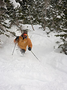 How to Ski Regal Chute This is John Musser at the mouth of Regal Chute.  This might be the hardest run at Alta, but not as famous as some because it's hidden.  Super steep, narrow, in the trees.    I took John's Diamond Challenge class this afternoon and then got him to pose for me. Look at that upper body position.  16 years teaching in the Alta Ski School can do this.  20 March 2006