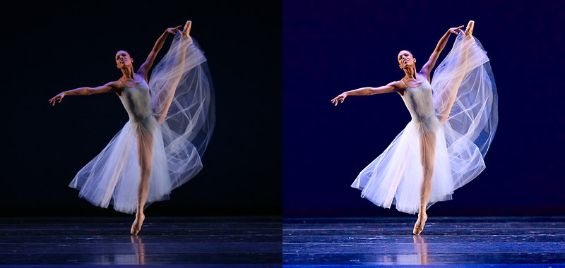 "<span type=""Journal800x800Rule""></span> <h3>Did I Improve It?</h3> Tai Jimenez in Boston Ballet's Serenade. Taken 10 May, but I spent all day yesterday trying to process and capture in a step by step.  Shown is out-of-the-camera jpg (left) and my final version (right).  I have to say, I'm not as happy with it as I might be.  Maybe I should have been more careful with the highlight detail and gone for a more neutral shadow?  Larger images:  <a href=""http://rutt.smugmug.com/photos/71517709-800x800.jpg"">Before</a> <a href=""http://rutt.smugmug.com/photos/71517643-800x800.jpg"">After</a>  24 May 2006"