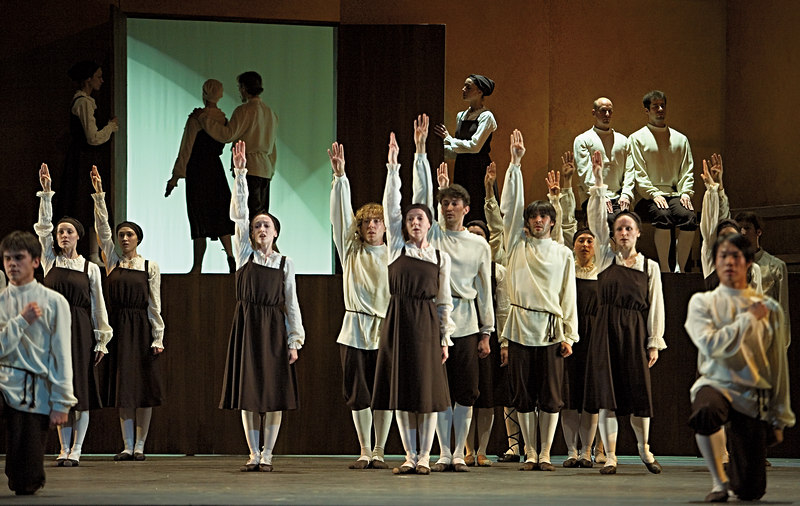 <h3>Les Noces</h3> First theater rehearsal, Boston Ballet  2 May 2006