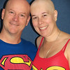02/13/12 - Superman and Superwoman Battling Cancer  My Blog:  http://maryanng.blogspot.com/2012/02/superman-and-superwoman-battling-cancer.html  You guys have seen quite a few pictures of Donnie, and you know that he wears his hair pretty short.  When my hair was coming out after chemo, we started joking about taking a picture of us as twins.  I try to be a good sport.  Yesterday was the day.  I know some people would never allow themselves to be seen without their wig, but I'm not some people.  I am what I am.  I appreciate that the wig helps me look more like my usual self, though!  Maybe someone else going through a similar situation will see this picture and be a little stronger to deal with their cancer hair loss after seeing my picture.  There are awesome super men out there like my Donnie who love you no matter what and don't focus on what you look like on any given day but just remember the pretty girl they fell in love with no matter what.  I'm a lucky girl, and Donnie is a good sport.   Off to my third chemo today. Then hopefully only one more to go!  HAGD, Maryann
