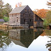 """11/05/09 - Historic Yates Mill Pond at Sunset<br /> I posted a picture of the actual water wheel in my gallery earlier this year.  In this picture, you can't see the wheel, but you get this lovely reflection instead.  After Joey's flu shot, I decided to make the best of a wonderful afternoon and go for a quick hike around the mill pond.  Unfortunately, we were really there a good 30-60 minutes too late to be taking good pictures.  I had to bump up the saturation on this one to improve the color.  <br /> <br /> This is the same shot taken on 10/26 last year when the sun was better and the tree closest to the mill still had yellow leaves on it.  <a href=""""http://fotomom.smugmug.com/Yates-Mill-Pond/Yates-Mill-Photo-Contest-2009/7088136_34LZC#454338880_TdGL2"""">http://fotomom.smugmug.com/Yates-Mill-Pond/Yates-Mill-Photo-Contest-2009/7088136_34LZC#454338880_TdGL2</a><br /> In both cases, the sky looks better in the reflection than in the final shot.  I'm not sure how to get around that...especially in last night's picture when the sky really didn't have much blue in it.  <br /> <br /> We still have not had a frost or freeze at my house, but it look like it's coming Friday night into Saturday.  I am storing ceramic bird baths and pots and taking in fragile plants that I can save.  <br /> <br /> I sure wish today was Friday...<br /> HAGD,<br /> Maryann"""