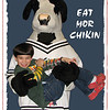 "03/09/11 - Eat Mor Chikin<br /> <br /> Some kids are scared of characters in costume.  Johnny is not one of them:-)  <br /> <br /> Tuesday night is family night at Chick-fil-A, and we went last night with our friends Faith, Eli, and Sophie.  It's a bit of a hectic time with so many excited kids, but I'm nearly always up to the excitement.  The kids had a fantastic time playing with the cow and on the indoor playground equipment.  <br /> <br /> This cow has picked Johnny up before, and Johnny loves it.  I think the cow can just tell it's cool with Johnny because the cow is VERY careful with the more cautious or smaller children.  What a personality.  Last night he was up inside the play structure with the kids too:<br /> <br /> <a href=""http://fotomom.smugmug.com/Nature/March-2011/16046070_gZarf#1210841615_KjFc5"">http://fotomom.smugmug.com/Nature/March-2011/16046070_gZarf#1210841615_KjFc5</a><br /> <br /> It didn't start out to be cute Johnny shots 2 days in a row.  Oh well!  Thanks for your comments on the Magic Glasses.  This little guy is intoxicating with his smiles and giggles nearly all the time.  What a joy to be around.<br /> <br /> When I added the white frame, it happened to come back under the cow.  Hmmm... Ya know, I like that!  So I didn't reorder them. <br /> <br /> HAGD,<br /> Maryann<br /> <br /> I noticed 2 small spots where the background is bleeding through.  The select tool and me both missed them this morning.  I have a fixed copy now not that it really matters.  Just saying..."