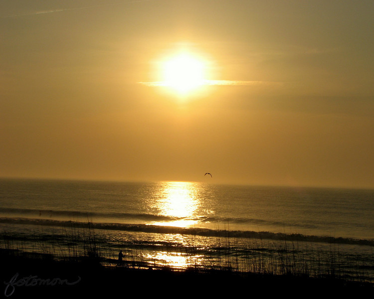 04/22/11 - Sunrise on Carolina Beach<br /> <br /> Make sure to note the fisherman.  Taken from my motel room balcony.  The sunrise on our 2nd morning there was much prettier than the first morning.<br /> <br /> We had a great time.  Home but wishing we were still there.<br /> <br /> Thank you for all the comments on Joey's big splash:-)<br /> <br /> i missed yesterday due to a computer failure:-(  I put up a stingray shot today for yesterday too.<br /> <br /> Time to dye Easter eggs today.<br /> <br /> HAGD,<br /> Maryann
