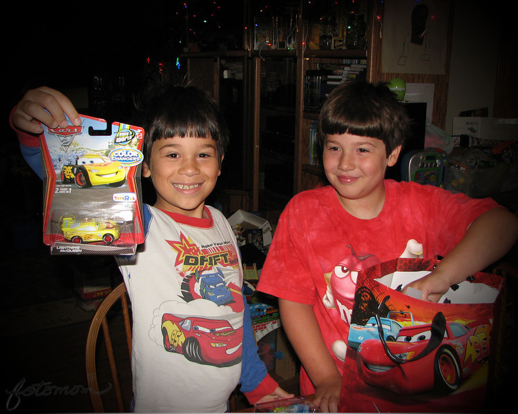 "07/31/11 - Happy Birthday Boy!<br /> <br /> Loving the smiles both boys have on their faces as Johnny opened his presents at home yesterday.  Joey is proud because he helped pick out the Cars cars in the present bag and to then 'wrap' them.  <br /> <br /> Johnny kissing Joey he's so happy too:<br /> <br /> <a href=""http://fotomom.smugmug.com/Nature/July-2011/17840800_GC3pFH#1408973633_SKMM7tj"">http://fotomom.smugmug.com/Nature/July-2011/17840800_GC3pFH#1408973633_SKMM7tj</a><br /> <br /> Collage from the party at Marbles:<br /> <br /> <a href=""http://fotomom.smugmug.com/Nature/July-2011/17840800_GC3pFH#1408979036_rSCHnCC"">http://fotomom.smugmug.com/Nature/July-2011/17840800_GC3pFH#1408979036_rSCHnCC</a><br /> I'm kindof partial to the shot Madi took of me and Johnny:-)<br /> <br /> Thanks for your comments on my goldfinch shot and hoping you guys are all having a great weekend.<br /> <br /> HAGD,<br /> Maryann"