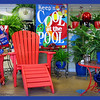 07/19/11 - Cool at the Pool<br /> <br /> A festive shot I took Saturday when I was at The Garden Hut. They always have the store decorated so beautifully!   Quite 4th of July looking and festive and hopefully eye catching.  Hand held in lower light so it's not quite as tack sharp as I'd like.<br /> <br /> All the errands in Monroe yesterday to attend to dad's estate plus packing up things at his house plus driving across state again just didn't leave me any time for pics.  Posting late:-( The world feels like it's passing me buy today.  Hoping tomorrow things have slowed down some.<br /> <br /> Thanks for your comments on the bridge shot from yesterday and all your comments every day.<br /> <br /> HAGD,<br /> Maryann