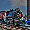 "03/21/11 - Flagg Coal Co. 75 <br /> <br /> The boys and I got back from my dad's house last night, and I was able to offload and process my pics from the NC Transportation Museum.  <br /> <br /> The highlight of the day at the museum was seeing a steam engine, The Flagg coal 75, in action.  It is not normally at the museum, but was there on loan giving rides.  There was a diesel engine also in operation using the museum's normal coach cars. 75 was pulling 4 (5?) cabooses.  The kids really liked that!<br /> <br /> From Wikipedia:<br /> Flagg Coal Company 75 is a 0-4-0 saddletank steam locomotive built for the Flagg Coal Company in 1930. Restored and owned by John and Byron Gramling.<br /> <br /> Originally numbered Flagg Coal Company 2, the locomotive's number was changed to 75 when it was sold to the Solvay Process Quarry in 1935. It never actually wore ""Flagg Coal Company 75"" during its service life.<br /> <br /> <br /> FCC 75 went into service in December of 1930 as #2 for the Flagg Coal Company of Avoca, Pennsylvania where it was used as a switch engine. In 1935 it was sold to the Solvay Process Co. in Jamesville, New York and renumbered 75. It was then used to push 4-wheel hopper cars from the steam shovel to the crusher at the rock quarry. In the early 1950s the Solvay Process Co. replaced the 0-4-0s like # 75 with trucks and dieselized the handling of finished crushed stone with two GE 80 tonners, #5 and #6. (#6 now belongs to the Central NY Chapter, NRHS along with former Solvay Process Co. Alco 0-4-0 # 53). In 1954, #75 and twelve other locomotives were sold to Dr. Groman and his planned Rail City Museum in Sandy Pond, New York. The locomotive sat there untouched until 1991 when John and Byron Gramling purchased it with the intent to restore it to operating condition. The father-son duo painstakingly disassembled the locomotive, moved it to their shop in Ashley, Indiana and over the course of the following ten years returned it to service. In 2002 John and Byron loaned the locomotive to the Steam Railroading Institute where it is used for demonstrations and to power steam excursions.<br /> <br /> Flagg Coal Company 75 has traveled around the country to operate, give demonstrations and educate the public about steam locomotive operation and history. The locomotive has made a few historic appearances, such as being the first steam locomotive to operate in Port Huron, Michigan since the early 60s.<br /> <br /> -------<br /> <br /> Really, are Mondays necessary?  Sigh...<br /> <br /> HAGD,<br /> Maryann<br /> <br /> The original non HDR shot:<br /> <br /> <a href=""http://fotomom.smugmug.com/Nature/March-2011/16046070_gZarf#1223014651_aKa4a"">http://fotomom.smugmug.com/Nature/March-2011/16046070_gZarf#1223014651_aKa4a</a><br /> <br /> A shot showing the cabooses:<br /> <br /> <a href=""http://fotomom.smugmug.com/Nature/March-2011/16046070_gZarf#1223217083_ZKC6o"">http://fotomom.smugmug.com/Nature/March-2011/16046070_gZarf#1223217083_ZKC6o</a>"