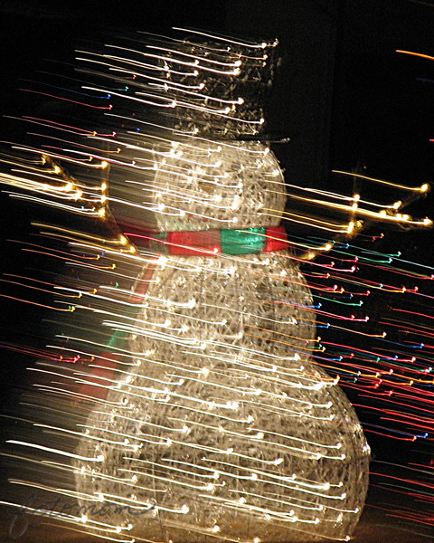 12/10/14 - Lighted Snowman in a Blizzard