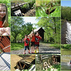 04/12/10 - Fun at the Eno River<br /> I don't know how I could have lived so close to the Eno River for so long without going to see it...the park...but nearly 20 years passed without a visit. It took hearing that there was a grist mill there to bait me in to go.  I mapped it out, and it's only about 4 miles from the Museum of Life and Science in Durham where I go with the kids all the time.  So, anyway, I took the kids there today.  We were all so excited to see West Point Mill especially after touring Yates Mill a few weeks ago.  Similar but different.  The gentleman running the mill is also a Yates Mill Associate, so I talked with him for a bit.  We got to go on the 2nd floor.  Lots of wonderful artifacts and a great view of the water wheel and over the park and river from up there.  <br />  <br /> Quite a lot of poison ivy with fresh oily leaves.  I sure hope we avoided it.  I worked very hard on that.  Talk about something that causes me stress...fear of the itch!<br />  <br /> Quite a few people in the river getting their feet wet, so I decided to risk letting the kids get their feet wet too.  Let's just say that they had a good time and I got to let the boys make use of the spare clothes in the car and leave it at that:-)  In the center picture in the collage, you can't really tell, but both boys are soaked.  Madi thankfully is dry.<br />  <br /> Some of you may remember the vertigo pedestrian bridge shot that James Hill posted last year.  The picture on the lower left is of the same bridge.  I finally understand his photo!  That is one neat bridge just filled with photo ops!<br /> <br /> Wonderful landscape views.  I took some bracketed photos and converted a few to HDR although I'm not sure f there's a big improvement on those particular shots.  <br /> <br /> A very fun time, and I have no doubt we'll go back.<br /> <br /> Monday mornings are so stressful on normal weeks, and with so many extra tasks to do this week, it's feeling particularly stressed.  I'm just trying to take one day and one task at a time.<br /> <br /> When I spoke to Dad yesterday, he sounded good.  His doctor said he may be able to go to rehab later in the week.  The folks at rehab can address his ability to go back home and work with him toward that goal. <br /> <br /> The new album with the West Point Mill photos is still uploading.  I'll feature it later today. <br /> <br /> <br /> HAGD,<br /> Maryann