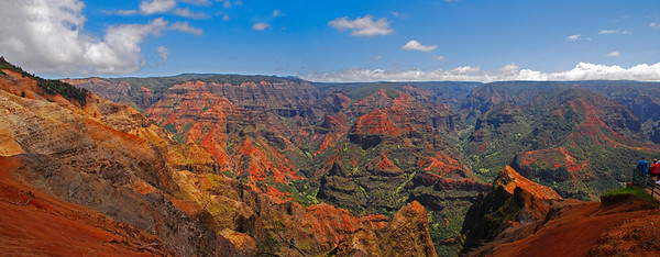 April 17  Spent some time today working with photos from our recent trip to Kauai.  Wiemea Canyon - - - Spectacular! Two shot panorama
