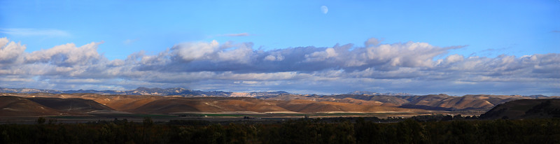 November 10    More during my drive home on yesterday; heading south on Hwy. 101, this is  looking east, inbetween King City and San Ardo.  (3-shot panorama) ******************************************************************************************************************************************** My sister and I are leaving tomorrow morning to go camping in Yosemite! One of my favorite places! Might be able to take the laptop and use internet ( maybe I'll be able to post a couple of DP's!), while lounging in front of the fireplace at the Awanhee Hotel. But if you don't hear or see anything from me, you'll know we decided to stay outside and keep playing! I'm guessing I'll probably be posting some of the photos starting Sunday night, after our return home! Have a good week!  Blessings!