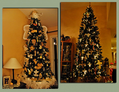 December 14  On Dec. 12, I posted a photo from an incredibly & beautifully decorated home which is showcasing 38 Christmas trees! In that same home, these are in opposite corners of the living room,  with another big tree in a third corner, all of which are religious/spiritual themed.  This is especially for Irish, Normz and Fotomom!!