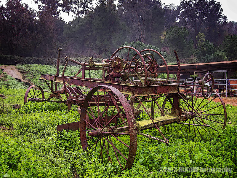 """Antique Horse Drawn Grader...<br /> <br /> Saw this old grader in the equestrian area. Wasn't able to find much info on it, but here is a short video of something similar, interesting if you have a minute.. <a href=""""http://www.youtube.com/watch?v=4w7c_uy1e0s"""">http://www.youtube.com/watch?v=4w7c_uy1e0s</a><br /> <br /> Schabarum Regional Park<br /> Rowland Heights, CA<br /> <br /> Thanks much for your comments! <br /> <br /> Critiques welcome...<br /> <br /> March 5, 2013"""