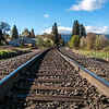 Railroad tracks<br /> Mt. Shasta City, CA<br /> <br /> Made this and yesterday's Mt Shasta shot after we had finished breakfast at the Black Bear Diner, good food! Could have spent a lot of time shooting here, but had to hit the road...<br /> <br /> Unfortunately, due to lots of rain in the Portland area and time constraints, I wasn't able to get out and shoot much. A few pics along Interstate 5 and a few flowers in my sister's front yard is all I was able to get...but we had a great time with family, and that was the main thing!<br /> <br /> Thanks for your comments and views on my Mt. Shasta shot, much appreciated!<br /> <br /> Critiques welcome...<br /> <br /> 14 May 2014