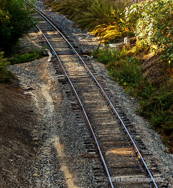 Railroad tracks...