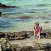Her own little tide pool...