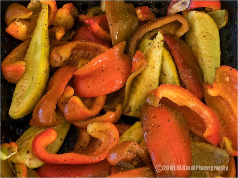 BBQ'd Peppers and squash...