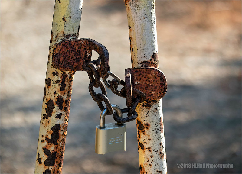 Chained up...