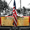 GOD BLESS AMERICA<br /> <br /> I had walked past this handyman's truck when I thought maybe it would make for an interesting daily so went back and took a couple shots. I really liked seeing Old Glory and the sign on the back of his truck.
