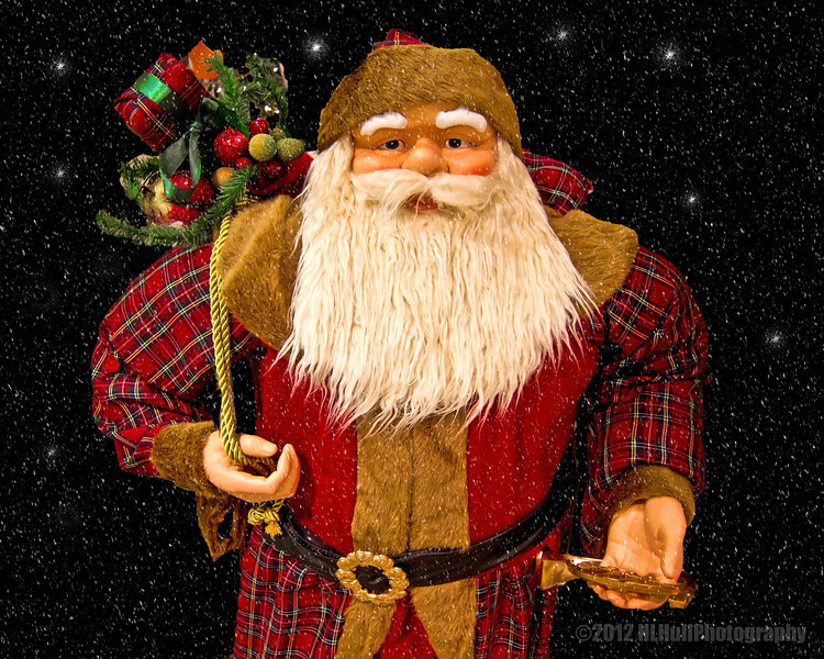 Ho Ho Ho...<br /> <br /> Took this pic of Santa, not at the North Pole, but at a local JCPenny store. This Santa was only about four foot tall and was just begging for his pic to taken! I changed out the busy background for this one, in Elements.<br /> <br /> Critiques welcome...<br /> <br /> December 22, 2012