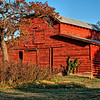 "November 25, 2010 - ""The Old Red Barn""<br /> <br /> Happy Thanksgiving Day!  I thought the colors in this image would be appropriate for this holiday.<br /> <br /> This was shot shortly after sunrise on Tuesday morning.  On Sunday I posted an abstract of the hay loft door that was shot last week in late afternoon sun."