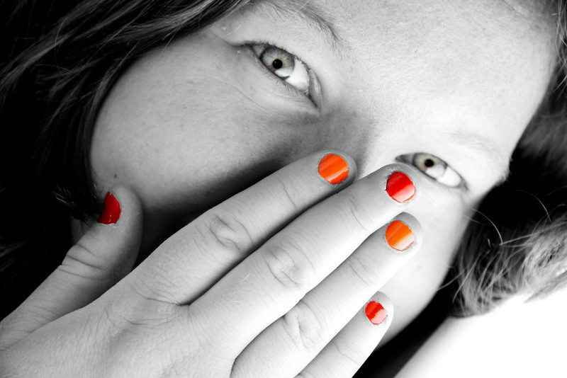 Crazy Randi and her colorful nails<br /> <br /> (Was a bit pretty sloppy with the 'photoshoping')