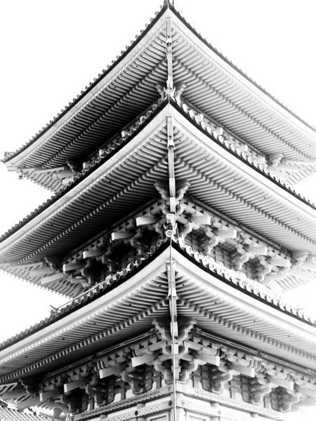 One of the many pagodas in Kiyoto