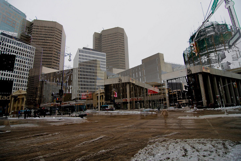 An attempt at HDR'ing downtown Winnipeg