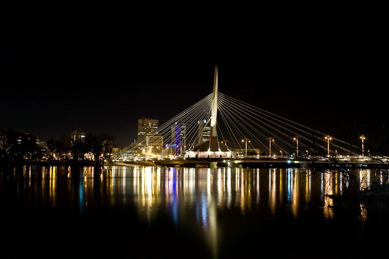 Winnipeg at night.