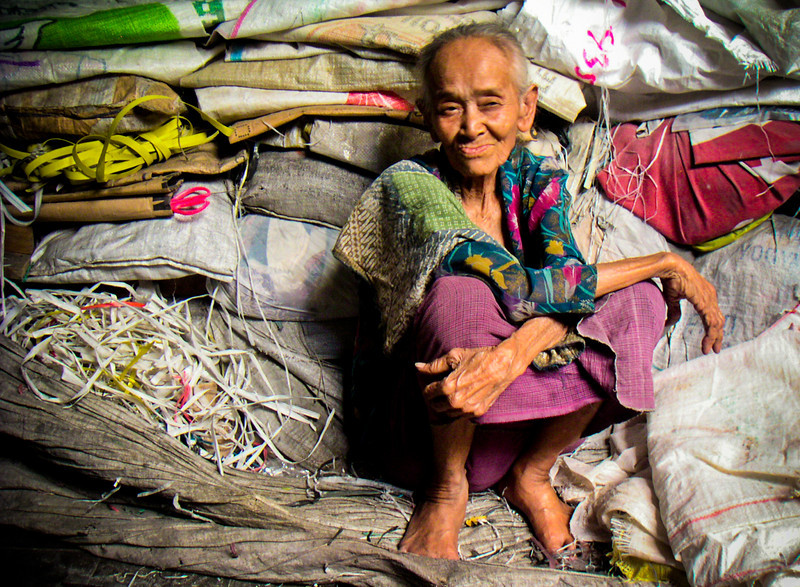 Old woman in Central Java, Indonesia.