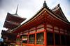 An orange shrine and pagoda at Kyoto's Kiyomizudera (清水寺)