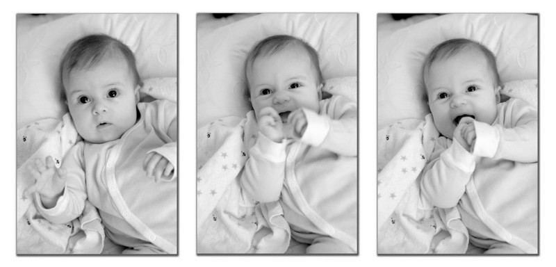 I hope this isn't cheating having three photos in one, but I guess it makes up for the days I've missed. Here is a series of my niece being cute.