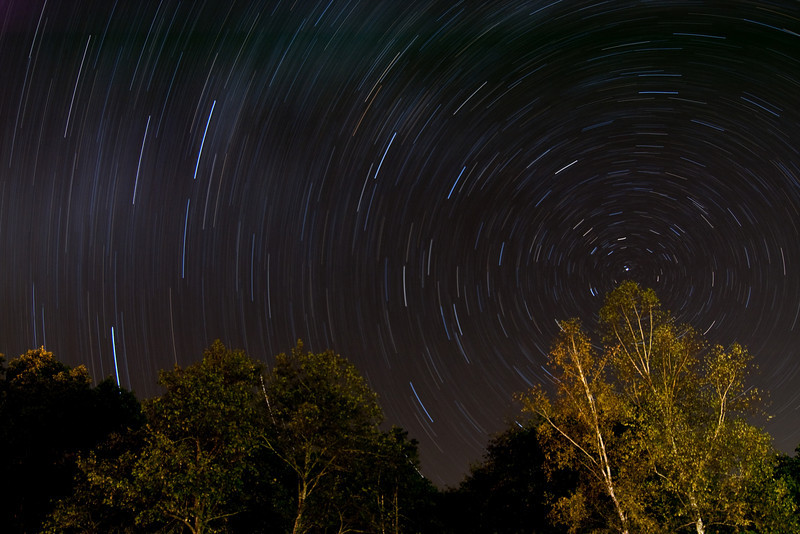 A night at Iwanai Gorge, Obihiro. Second attept at a star trail