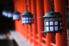 Lanterns at the famous shrine on Miyajima.