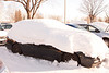 Coming back to Japan after a two week holiday, I find my car covered in almost two feet of snow! Took about half an hour to clear it all off!  It also took a while to recognize my car in the parking lot. <br /> Under all that snow is a honda accord.