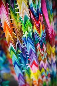 1000 paper cranes at Hiroshima