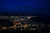 The famous night view of Hakodate (函館) from Hakodate mountain during golden week.