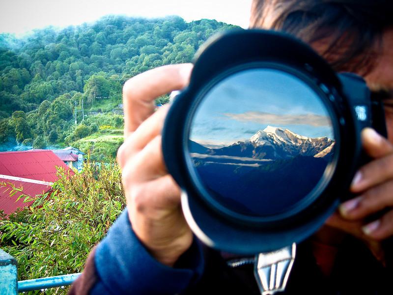 Reflection of the Himalaya's.