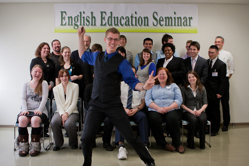 Our yearly English Education Seminar in Obihiro. I couldn't resist a bit of fun before taking the serious shots.