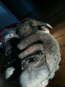 Dirty shoe - i love MTB especially when mud challenges bike control!