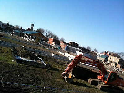 Petrolia farmer's market construction, the place is going to be awesome.