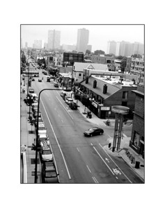2006-08-10  Halsted Avenue from a parking garge roof