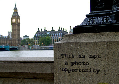 2006-09-28   Big Ben and the photo opportunity London, England  Banksy Graffiti, Westminster, London   My London vacation journal here