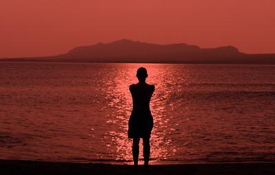 Enjoying a sunset in Ballydavid, Dingle Peninsula