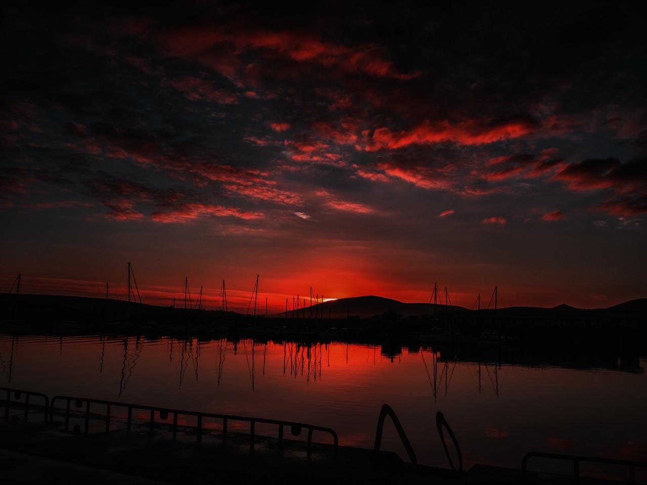 Sunset over Dingle Pier