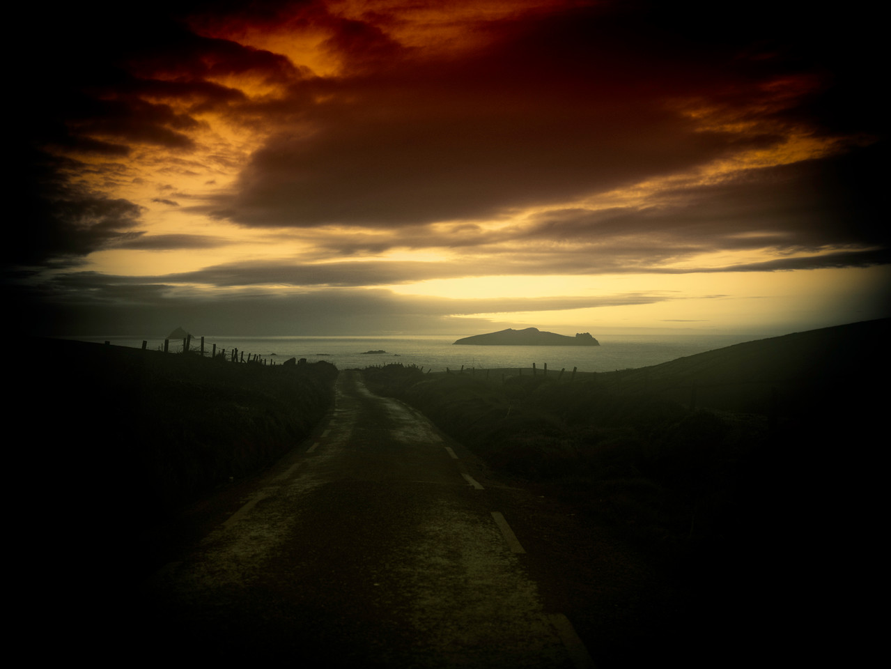 03-03-2012'The road from  Dunquin to the Great Blasket Island, Dingle Peninsula'