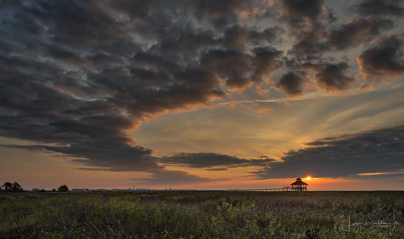 Sunrise at Lighthouse Beach, Port Lavaca, Texas